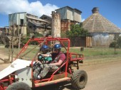 Mud buggy tour. In the background is one of the no...